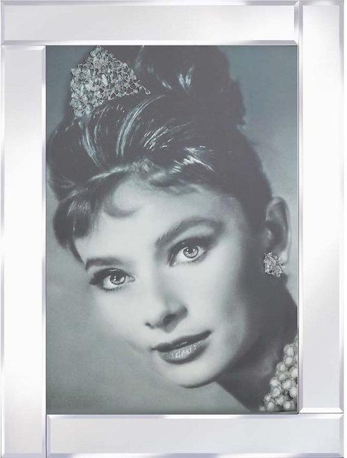 Audrey Tiara on Mirrored Frame 95x75cm