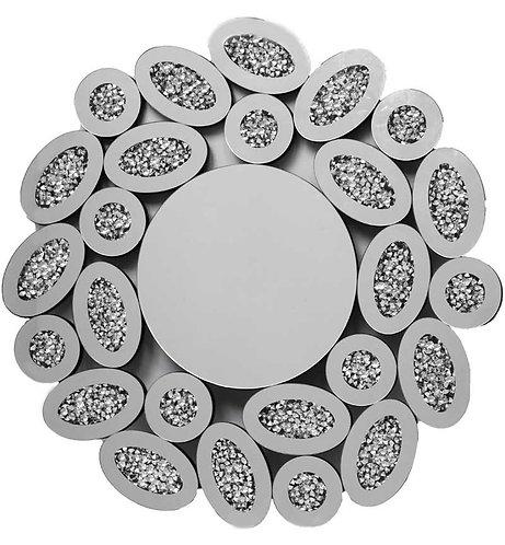 Crushed Diamond Round Mirror 80x80