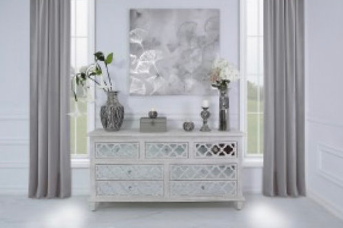 Isabella 7 Drawer Side Table
