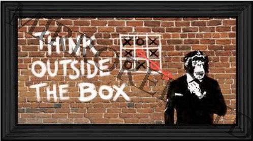 Banksy Think Outside the Box 110x60cm