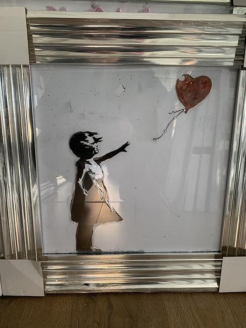 Banksy Heart Balloon 55x55cm