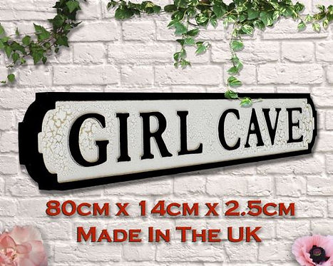 Girl Cave Road Sign