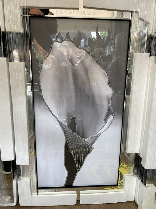 Cala Lily on Mirrored Frame