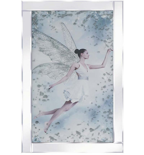Fairy on Mirrored Frame