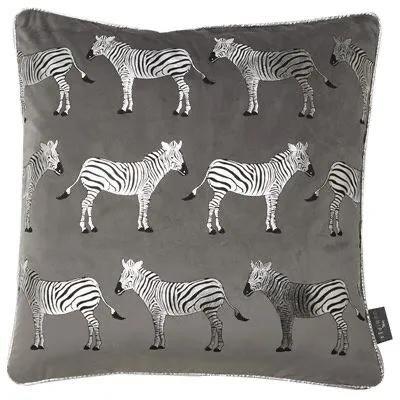 Grey Zebra Cushion 45x45cm