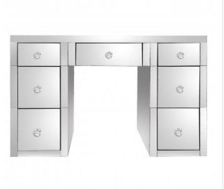 Classic Mirrored 7 Drawer Dressing Table