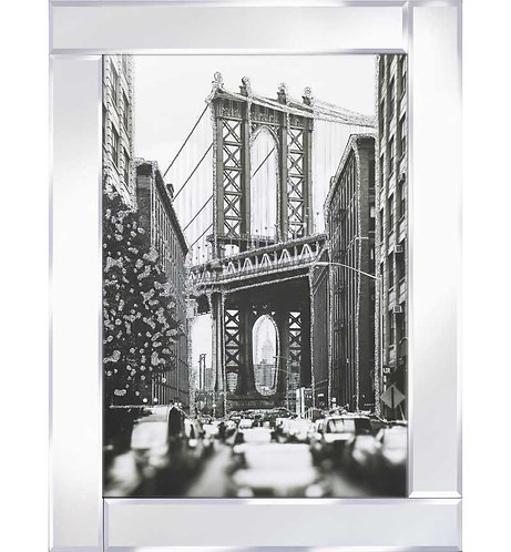 Glitter Bridge on Mirrored Frame 95x75cm