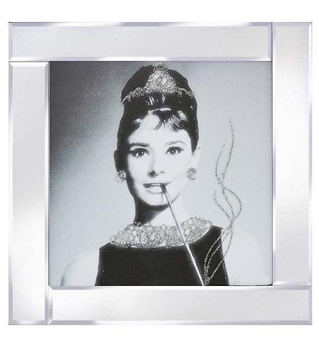 Audrey Hepburn on Mirrored Frame