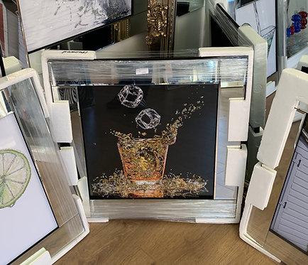 Glitter Glass & Ice on Mirrored Frame