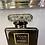 Thumbnail: Black Coco Perfume Bottle on Mirrored Frame 55x55cm