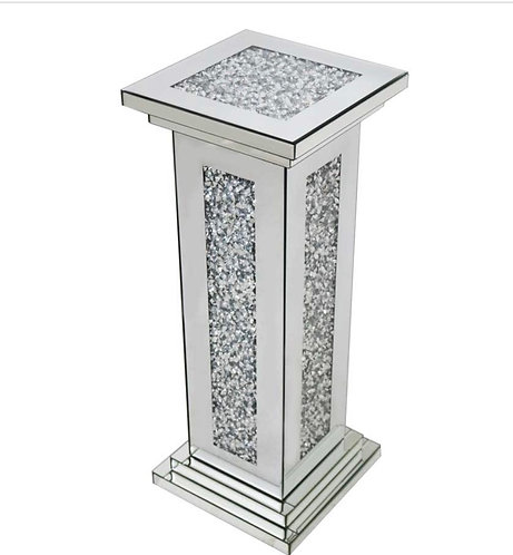 Crushed Diamond Large Pillar Side Table