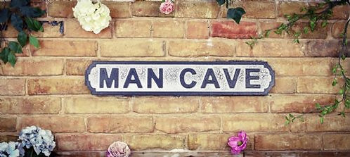 Man Cave Road Sign