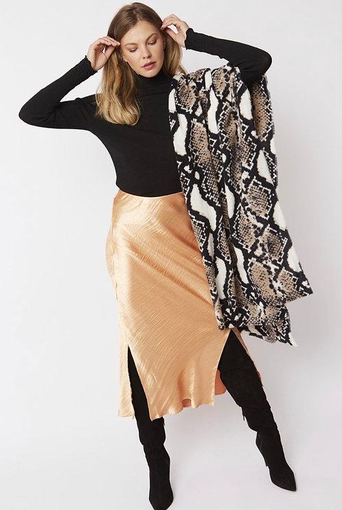 Animal Print Cashmere & Silk Blend Wrap