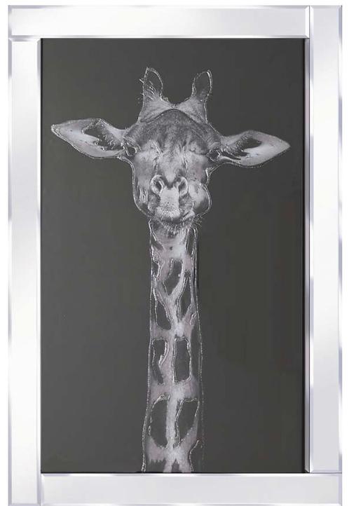Giraffe on Mirrored Frame