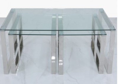 Halo Silver Set of 3 Tables