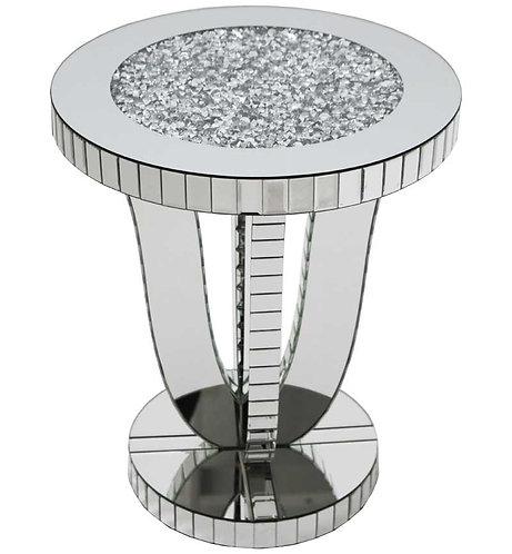 Crushed Diamond Round Legged Table