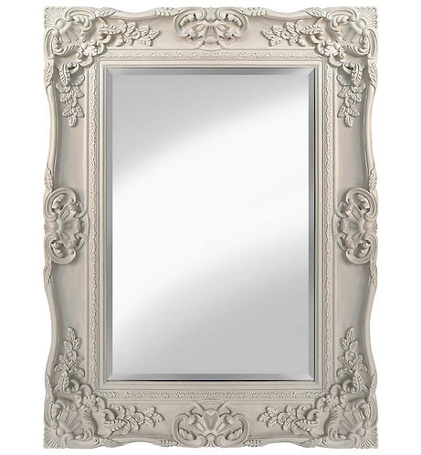 Cream Scroll Mirror 120x90cm