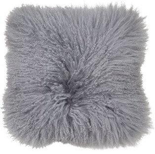 Grey Mongolian Cushion