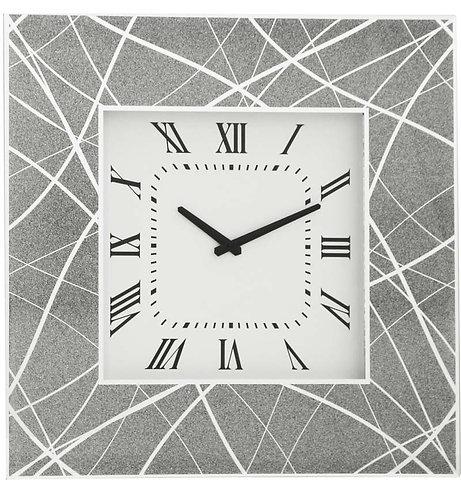 Mirrored Pattern Wall Clock