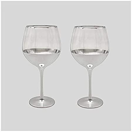 2x Silver Gin Glasses