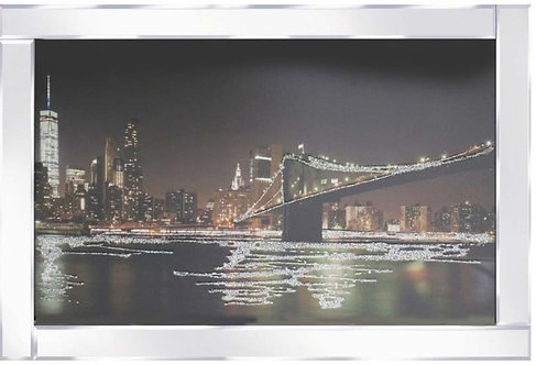 Bridge Brooklyn on Mirrored Frame