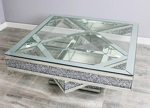 Crushed Diamond Infinity Coffee Table