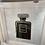 Thumbnail: Black Coco Chanel on White Step Frame 90x90cm