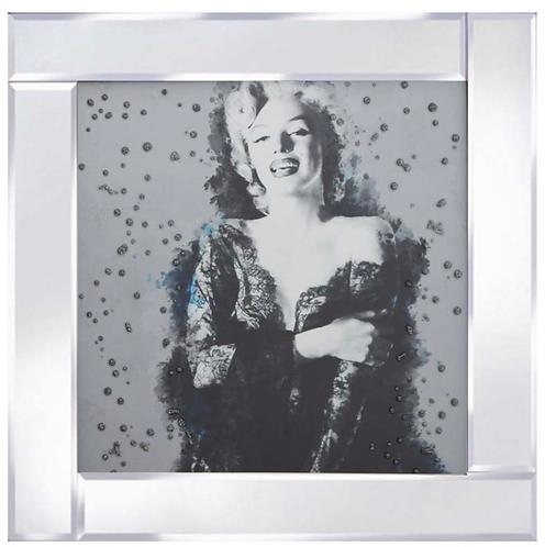 Marilyn Black Dress on Mirrored Frame