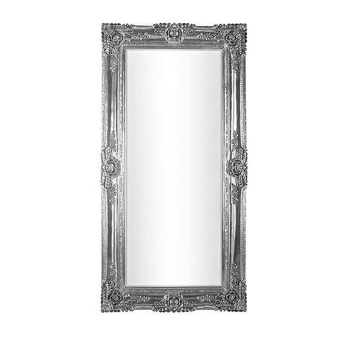 Large Ornate Silver Mirror 205x105cm