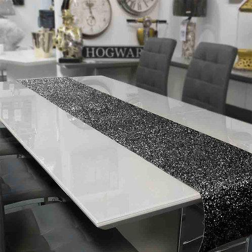 Black Glitter Table Runner 2.5m x 30cm