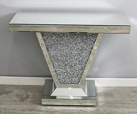 Crushed Diamond Small Console Table