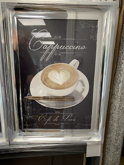 Cappuccino on Chrome Scoop Frame 75x55cm