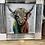 Thumbnail: Coloured Bull on Chrome Stepped Frame 55x55cm