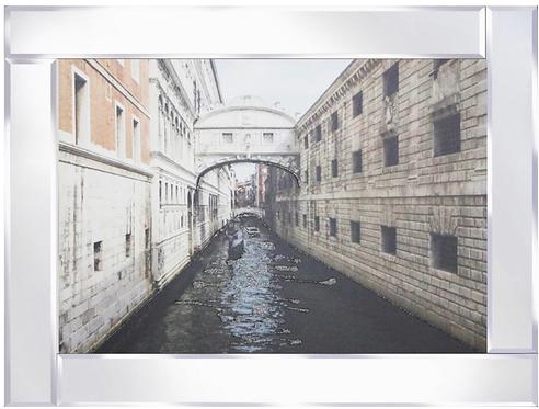 Bridge of Sighs on Mirrored Frame 95x75cm