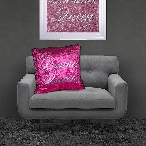 Drama Queen Crushed Velvet Cushion 55x55cm
