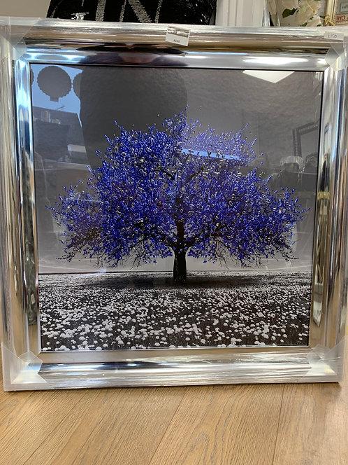 Blue Cherry Tree 75x75cm