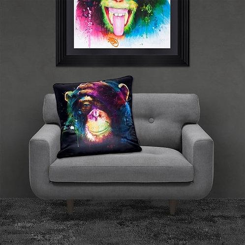 Colourful Darwin Monkey Feather Filled Cushion  55x55cm