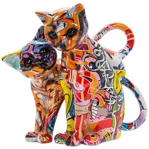 Graffiti Cats 24x20x14cm