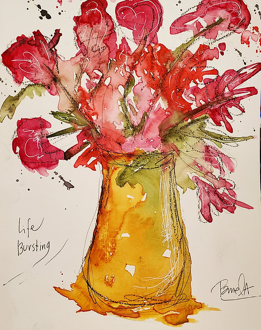 Life Bursting ART PRINT