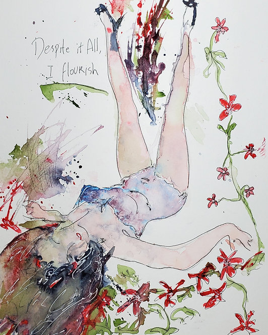 I FLOURISH -ART PRINT