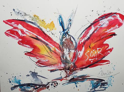 SOAR, original watercolor painting