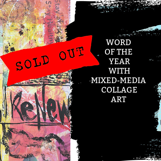 Word of the Year with Mixed-media Collage