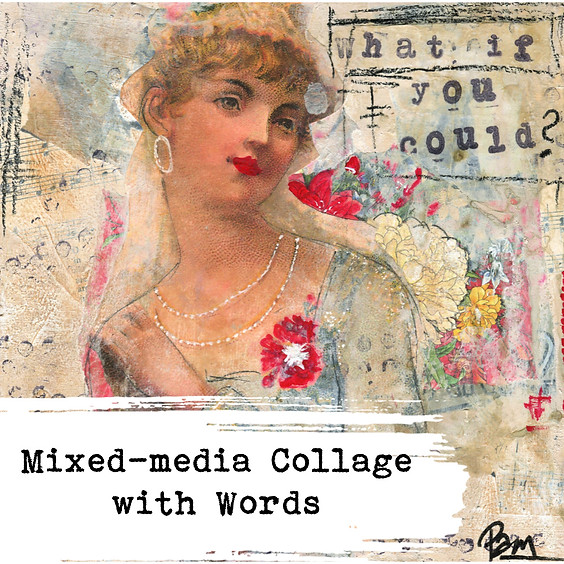Mixed-media Collage with Words