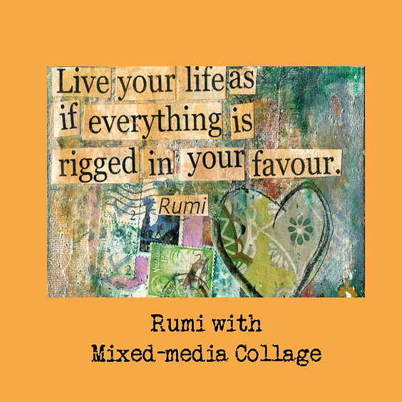RUMI with Mixed-media Collage