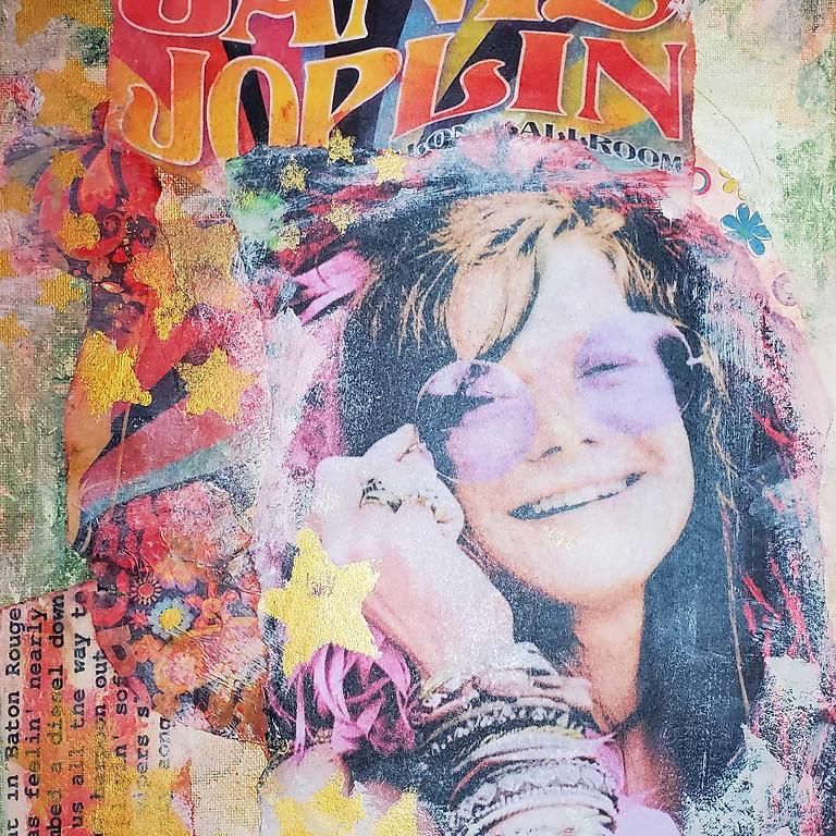 Janice Joplin Mixed-media Collage