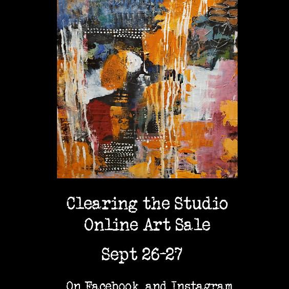 Clearing the Studio Online Art Sale