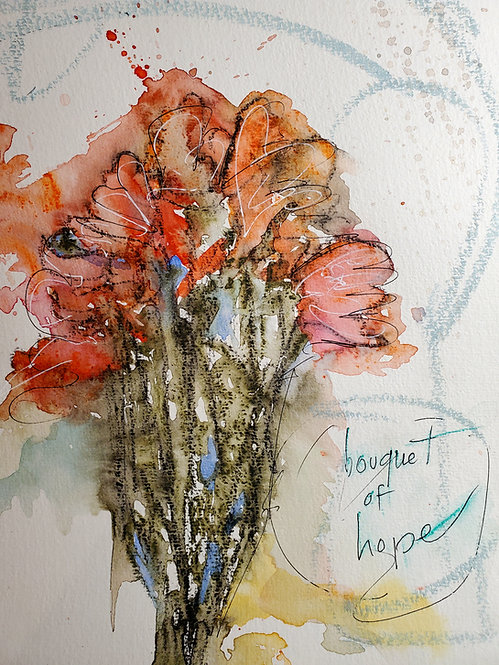 Bouquet of Hope LIMITED EDITION PRINT