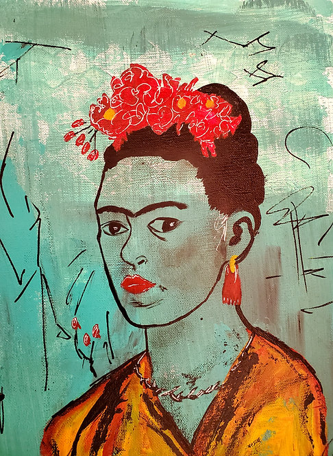 Blue Frida LIMITED EDITION PRINT & Canvas Reproduction