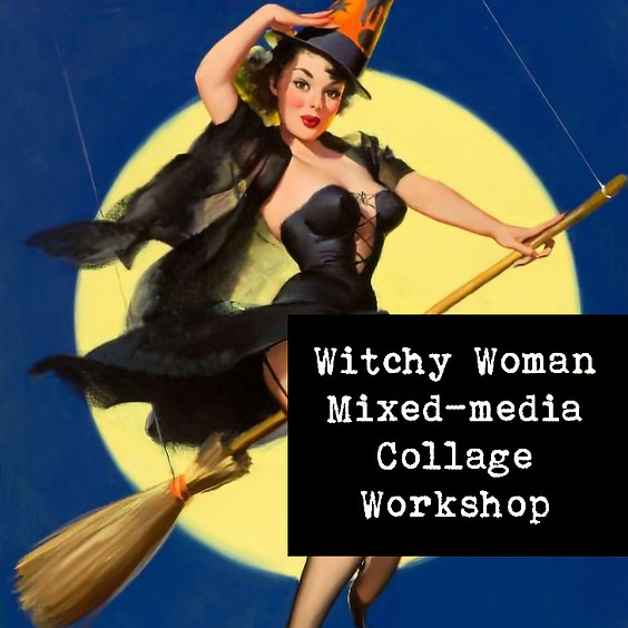 Witchy Woman Mixed-media Collage
