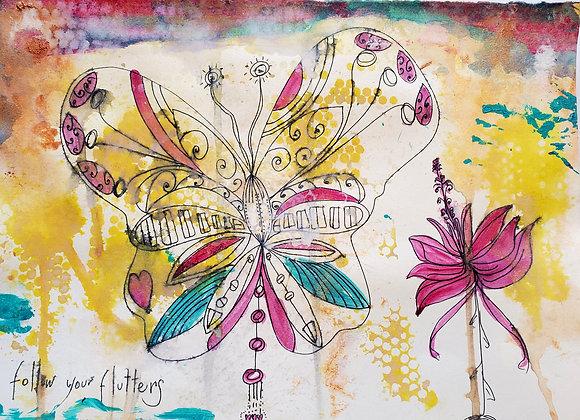Follow Your Flutters 8.5 x 11
